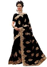 Bollywood Latest Style Party Wear Women Embroidery Designer Net Saree