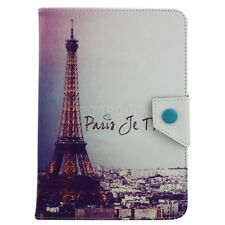 Fr All-New Amazon Fire 7 7th 2017 Universal Leather Stand Case Cover EiffelTower