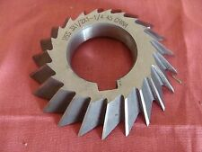 NOS UNKNOWN MFG. SINGLE ANGLE MILLING CUTTER RH 45 DEGREE 3 X ½  X 1 ¼ CHINA