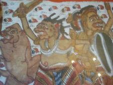 Batik D'Indonésie  - Démons - Encadré - Sous-Verre