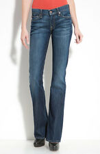 "7 FOR ALL MANKIND Women's Original Slim Bootcut Medium Blue Jeans Pants 24"" 00 0"