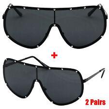 fc069e1b34 Oversize XXL HUGE Large Shield Wrap Big Mask Polarized Sunglasses Black 80