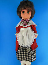 "Vintage Doll With Blue Eyes 12""  May be Italian Made"