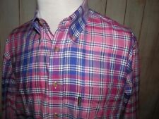 BARBOUR Tailored Country Shirt Pink Plaid Check Size Large