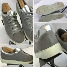 Zara Woman Fashion Sneakers Shoes Sz 9.5 Women EU 40 Gray Suede Worn Once YGI G8