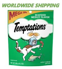 Temptations Treat for Cats Seafood Medley Flavor 6.3 Oz WORLDWIDE SHIPPING