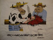 Vintage Sun Czar Inc. Animal Awareness Campaign 90's White T Shirt Size M