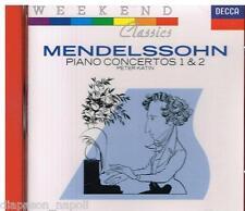 Mendelssohn: Piano Concertos 1 & 2 / Peter Katin, Collins, Lpo - CD Decca