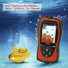Fish Finder Portable 2-in-1 2.4inch LCD Wireless Sonar Transducer ICE Boat D0Y2