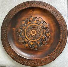 Authentic Polish Cultural Wooden Decorative Plate