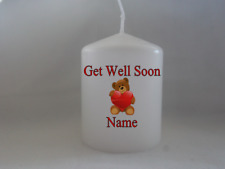 Personalised Get Well Soon Candle Gift for Friend - Gift Wrapped