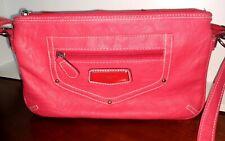 PINK Rosetta Soft Faux Leather Crossbody Strap Purse Handbag