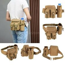Tactical Military Travel Hiking Waist Bag Molle Bag Water Bottle Fanny Pack I3G7