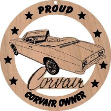 1965 Chevy Corvair Convertible Wood Ornament Engraved