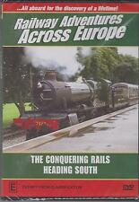 RAILWAY ADVENTURES ACROSS EUROPE - THE CONQUERING RAILS - DVD - NEW -