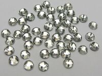 1000 Clear Flatback Acrylic Sewing Round Rhinestone Gems 5mm Sew on beads