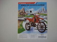 advertising Pubblicità 1990 MOTO HONDA CRM 125 R