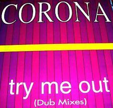 "12"" - CORONA - TRY ME OUT (ITALO DUB MIXES) NUEVO - NEW STOCK STORE"