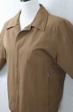 GOCARSO Italian Made Ladies Tan Water Resistant Jacket Windbreaker SZ XL EUC