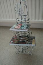 Free Standing Guitar Shaped CD/DVD Rack Holder - Holds up to 12 CD/DVDs