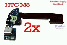 HTC One M8 831C Sprint 32G Audio Jack Charging Micro USB Port Flex Cable lot 2