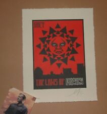 Shepard Fairey Laws of Physics Letterpress Art Print Poster Signed Numbered