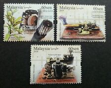 Malaysia 2018 Telegraph Museum Morse Code Plant Flower stamps 3v MNH