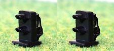 Pack of 2 Dwarf Signals Green / Red 2mm LED 12 Volt OO/HO Gauge