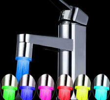 LED Water Stream Faucet Light Automatic 7Color Changing Shower Spout Sink Tap SP