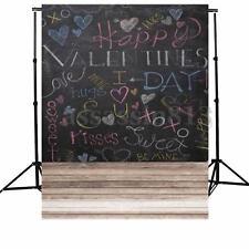 5x7FT Vinyl Happy Valentine's Day Love Kiss Photo Studio Background Backdrop NEW