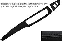 BLACK LEATHER TWO PIECE DASH KIT LEATHER COVERS FITS MITSUBISHI LANCER EVO 7 8 9