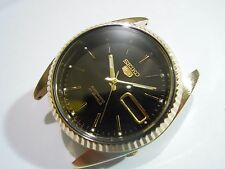 NEW REPLACEMENT SEIKO GOLD PLATED CASE,CROWN,DIAL,HANDS,WASHER FOR 7S26-3119