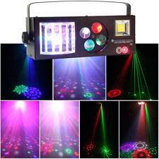 60W RGBW 4in1 LED Pattern Laser Strobe Stage Light DMX Sound DJ Disco Party Club