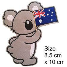 Koala Iron on patch - Oz Australia flag Aussie bear animal iron-on patches