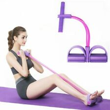 4 Resistance Elastic Pull Ropes Exerciser Rower Belly Band Home Gym