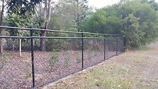 Black PVC coated Chain Wire Mesh Fence 0.9m high 20m long 2.5mm Cyclone Steel
