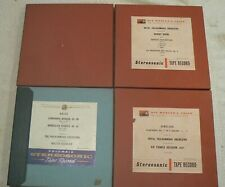 """More details for columbia and hmv stereo 7"""" r2r tapes (4), used ,untested ,vintage classical,1958"""