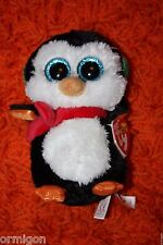 "Ty Beanie Boos 6"" North the Penguin 2014-Retired- MWMT! NEW! RARE! VHTF!"