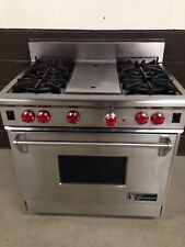 """Wolf 36"""" Professional Gas Range Oven 4 Burners + Grill in Stainless Steel"""