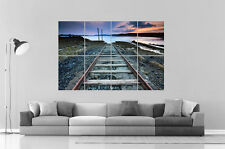 train rail Chemin de fer en pleine nature  Wall Art Poster A0 Large print