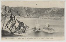 Guernsey postcard - Moulin Huet - Dog & Lion Rocks - LL 153 - P/U 1911