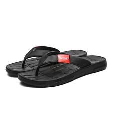 Mens casual slippers flat heel flip flops round toe beach sports sandals new