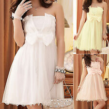 Evening Party Club Ball Gown Wedding Bridesmaid Dress UK Size 12 14 16 18 #8043