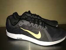 Nike Downshifter 8 Running Shoe Mens Sz 13 Thunder Gray Yellow Sneaker NEW