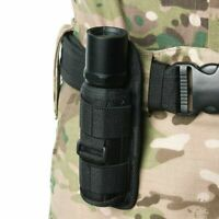 Portable Flashlight Pouch Holster Belt Carry Case Holder with Rotat 360 Deg D0Q5