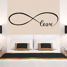 Infinity Love Faithfulness Quote Wall Stickers Bedroom Removable Decals DIY