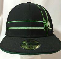 New Era 59Fifty MLB NY Yankees Black Green Hat Baseball Cap Fitted Size 7-5/8