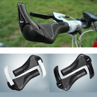 2PCS Ergonomic Bicycle Handlebar Grips Double Lock On Mountain Bike Handle Bar
