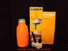 VINTAGE BOC SPARKLETS CREAM WHIPPER 1970'S RETRO ORANGE
