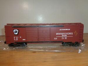 LIONEL O GAUGE # 6-9456 PENNSYLVANIA RAILROAD DOUBLE DOOR BOX CAR - NEW